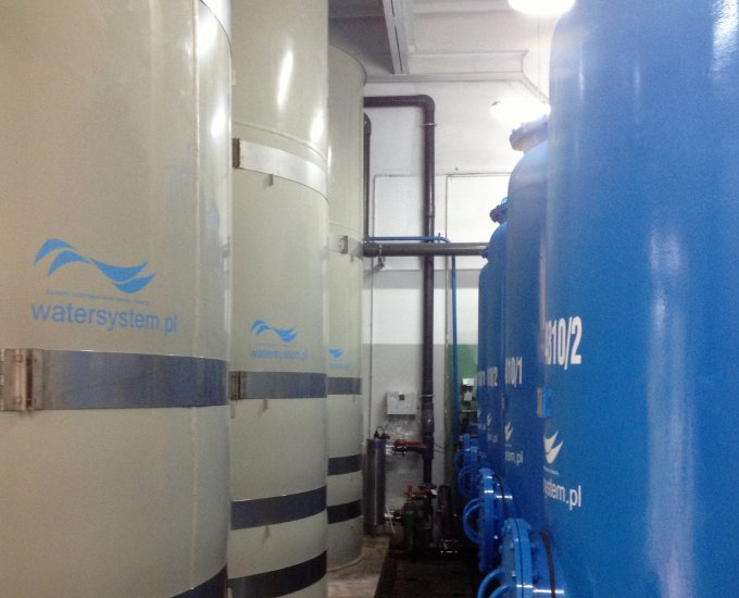 Process water conditioning plant